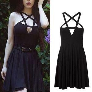 Dresses & Skirts - Sleeveless Pentagram Midi